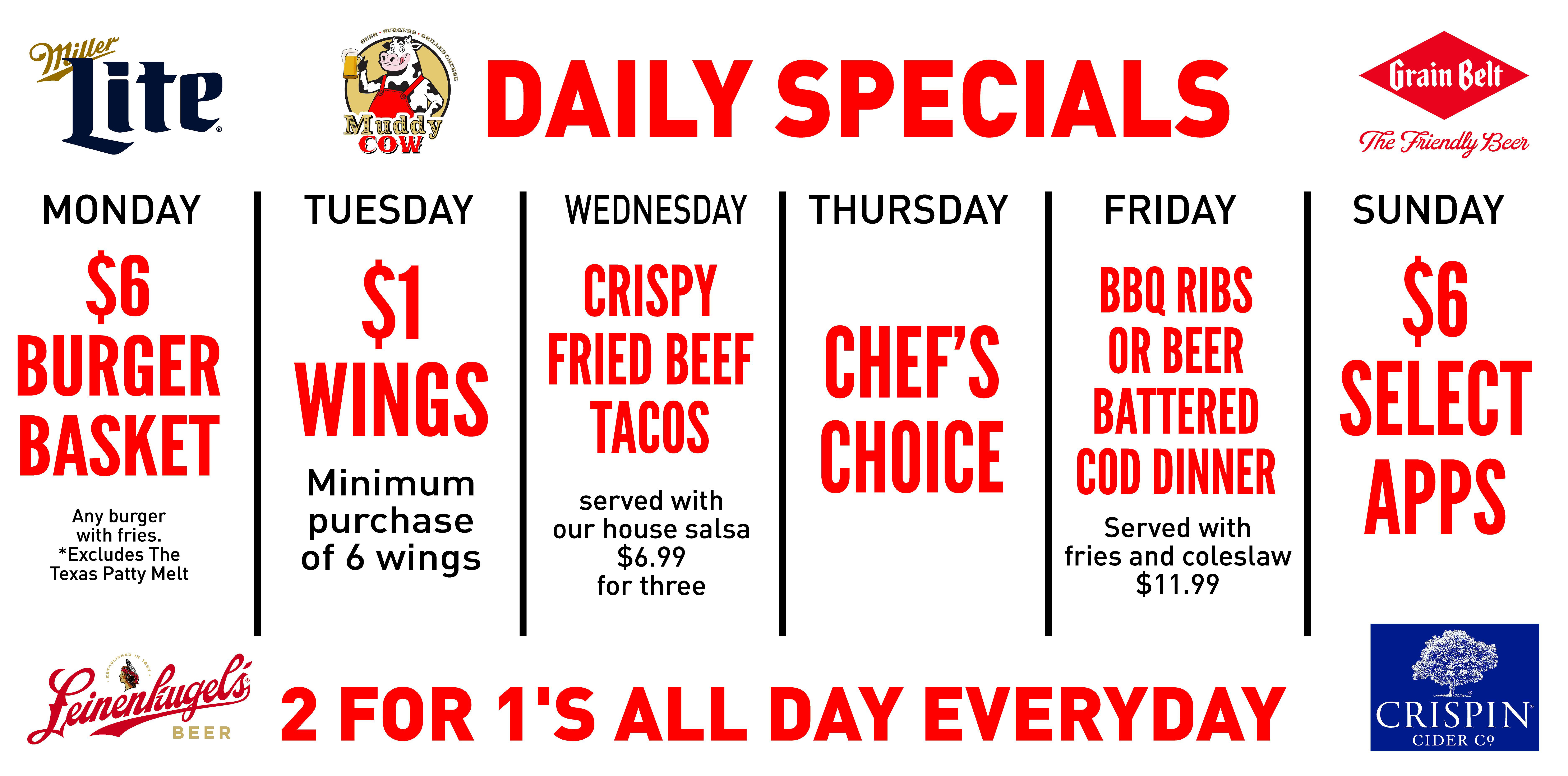 Cottage Grove Specials