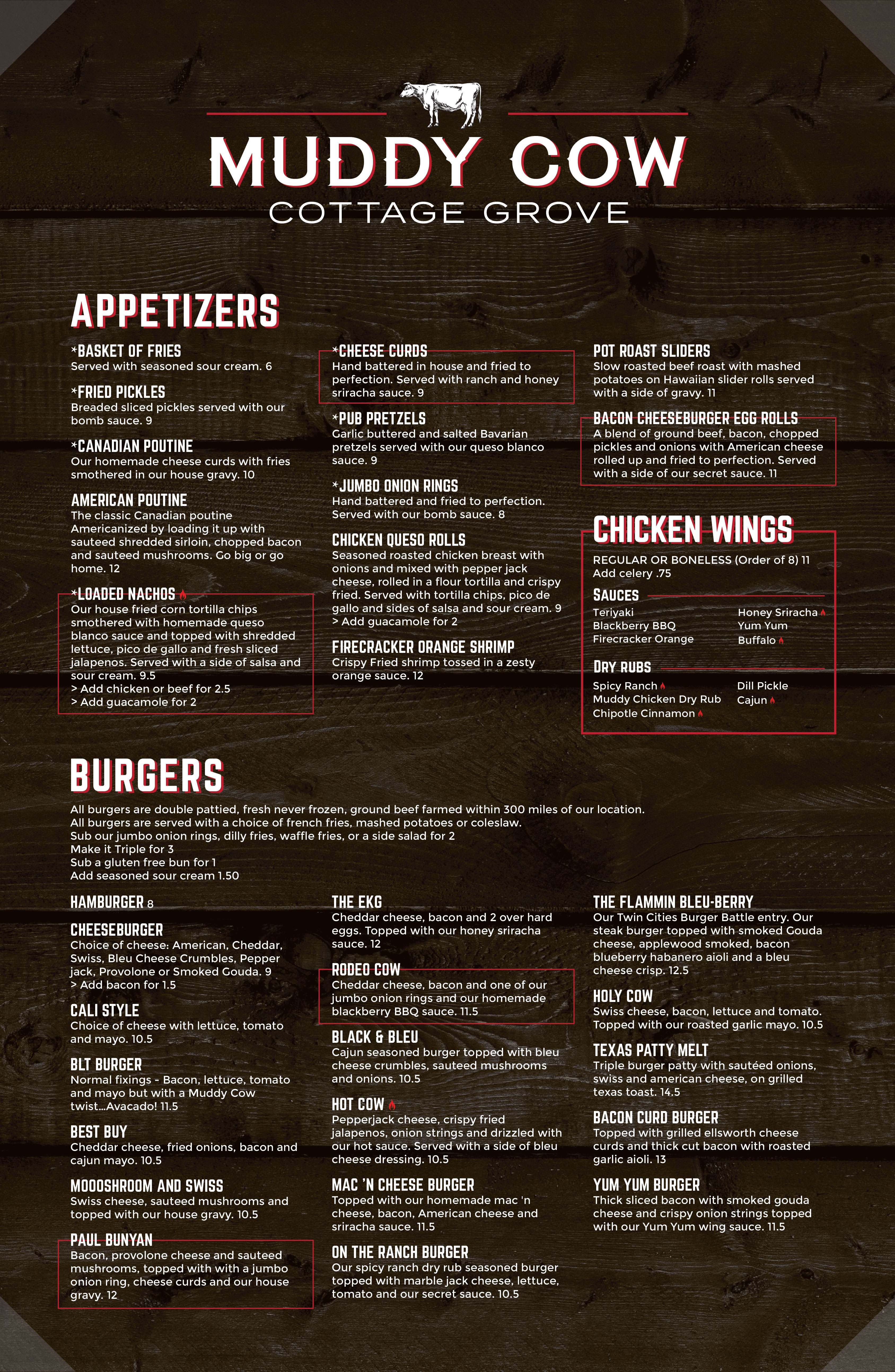 Muddy Cow Cottage Grove Main Menu FEB 2019-01